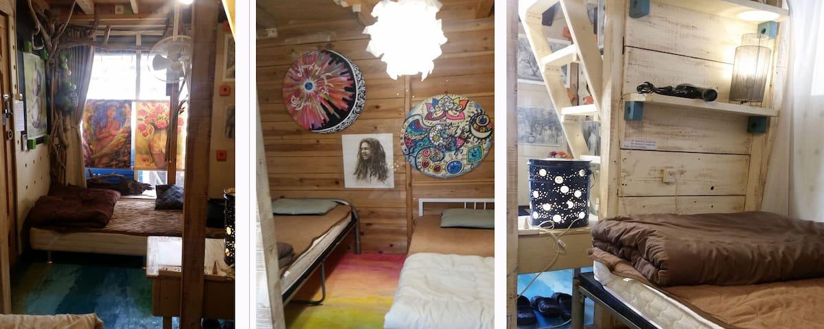 [Art&Sea アート&シー No1]海まですぐアーティスティック個室セルフリゾート・ゲストルーム - Chatan-chō - アパート