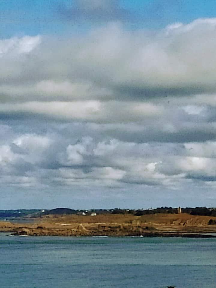 Maison 4 ch. vue mer face à l'île des Ebihens