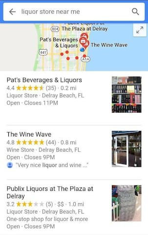 Liquor Stores Nearby