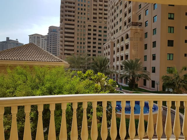 Super deluxe one bedroom appt in  pearl qatar