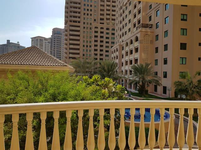 Super deluxe one bedroom appt in  pearl qatar