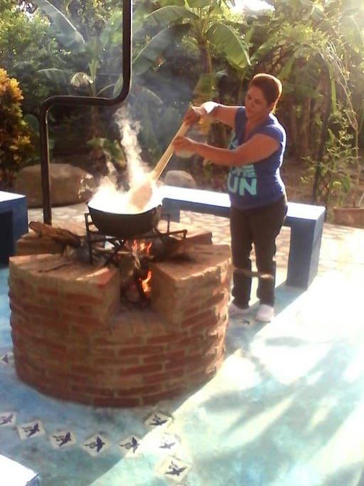 Preparing Sancocho