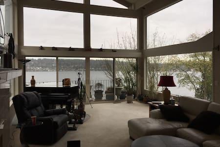 Luxury waterfront home cozy and quiet - Kenmore - Ház