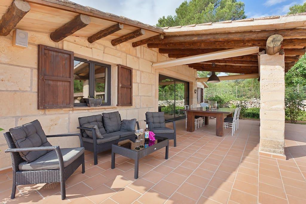 Lounge bereich Terrasse