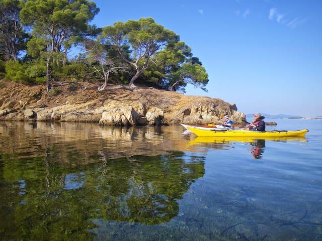 kayak dans les calanques