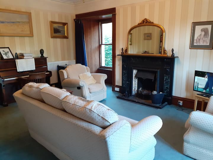 Rooms in country house with sheltered garden