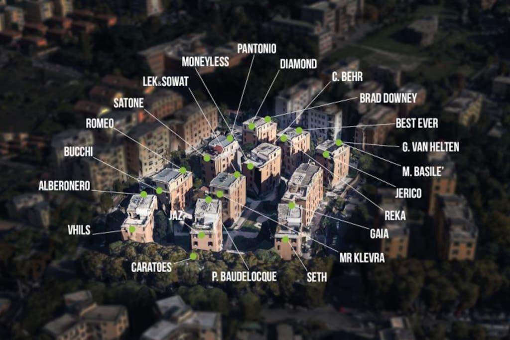 tormarancia street art map e zona vista dall'alto
