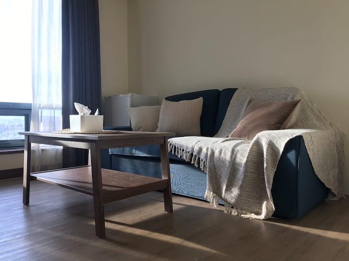 -Hana's-深色夢夢屋/近勤美商圈/飯店式公寓/高樓層景觀