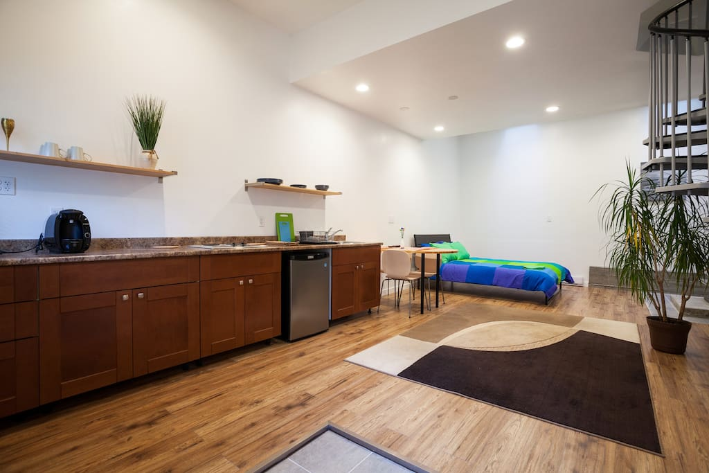 Studio style kitchen/dining