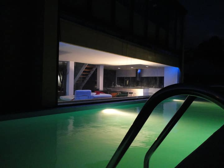 architect's own house with pool