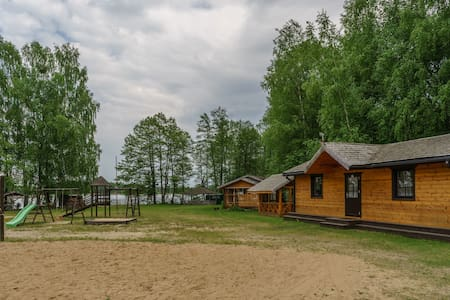 Private house on the lake beach near Druskininkai.