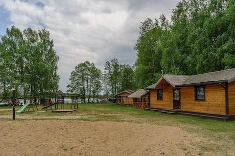 Private house on the lake beach near Druskininkai.