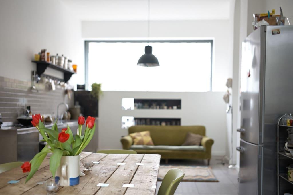 kitchen/dining room on ground floor