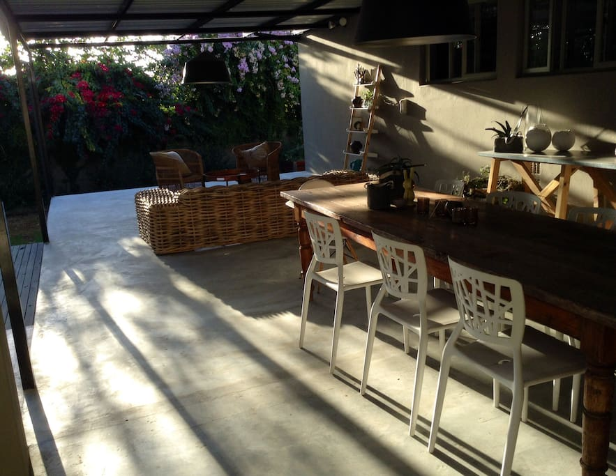 Patio with 10 seater table