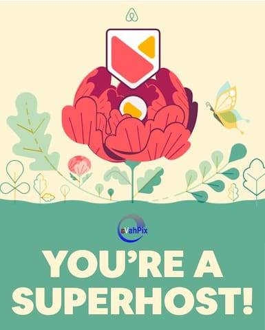 This is not just an AirBnB status, it's our strong commitment to pay attention daily to everything that matters to you, to provide you the best comfortable experience with respect. We definitely do not take this lightly. Come to be our SuperGuest!
