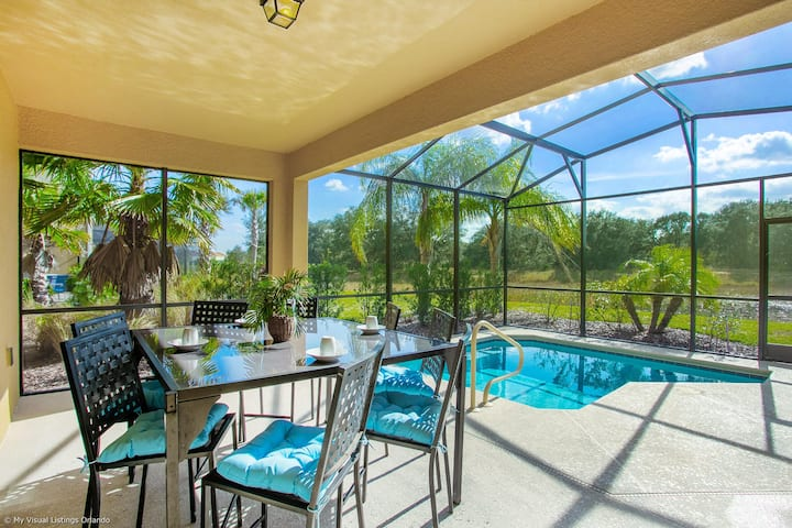 Enjoy the private view! CDC Cleaning Standards, Luxury Home with Pool #5ST739
