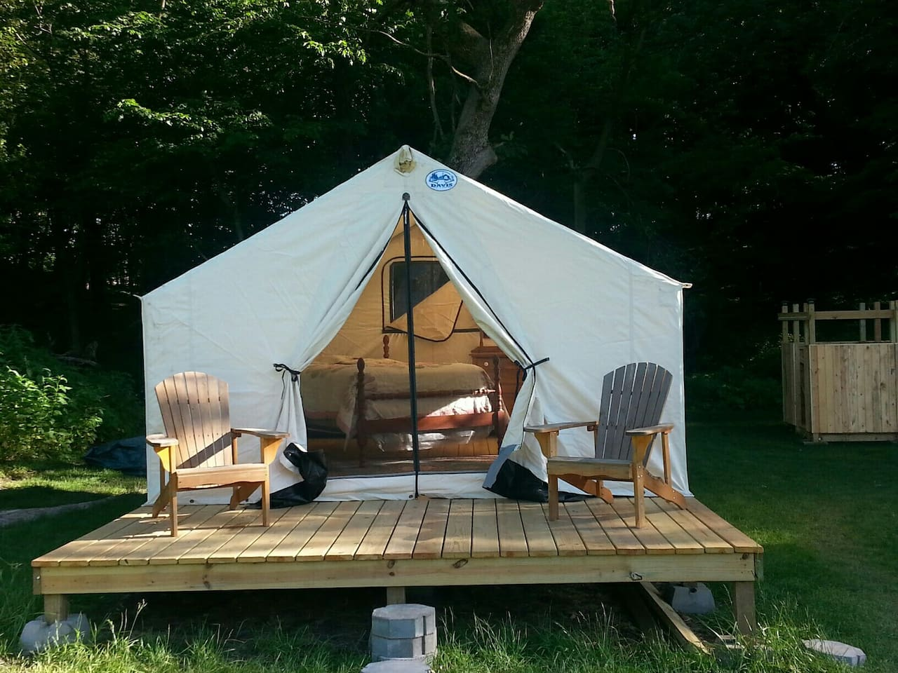 cozy oaks glamping tent for 2 tents for rent in plattsmouth