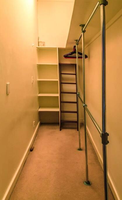walk-in wardrobe