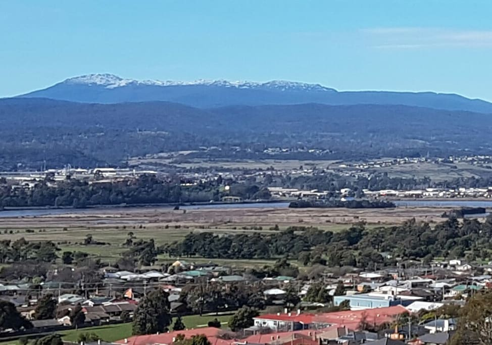Stunning view over Tamar River valley.