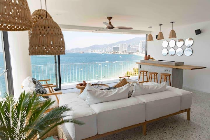 Ocho Acapulco Bay - Depa de lujo en la playa
