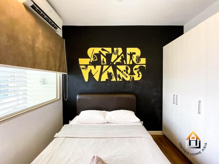 Afiniti @UHA 1BR 3pax FreeWiFi StarWar Themed