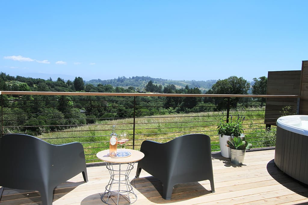 Sip a local wine, while gazing at the vineyard it came from...