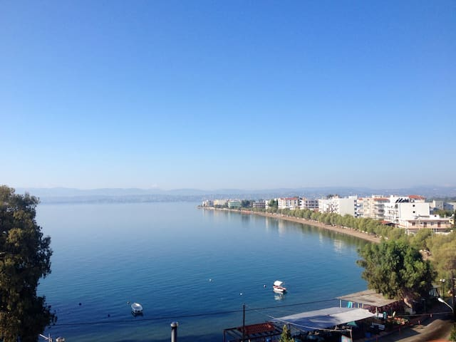 Amazing seafront apartment up to 7 people - Evia - Apartamento