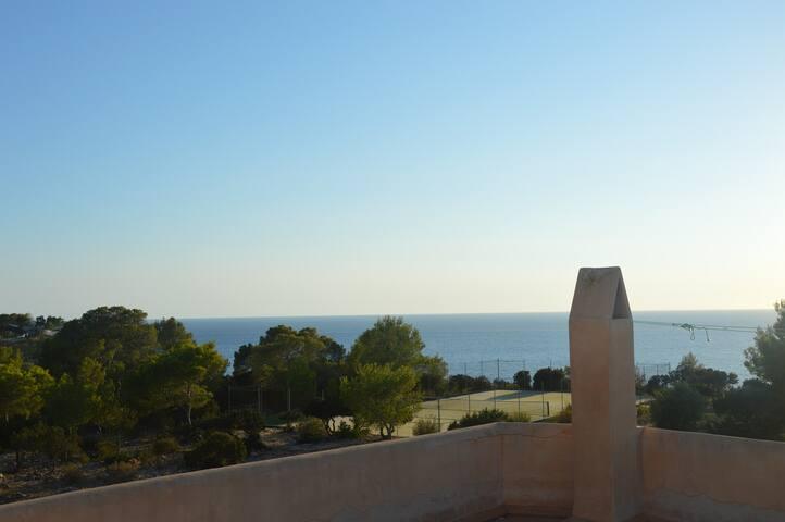 house with garden and wonderful sea view - Sant Josep de sa Talaia - Hus