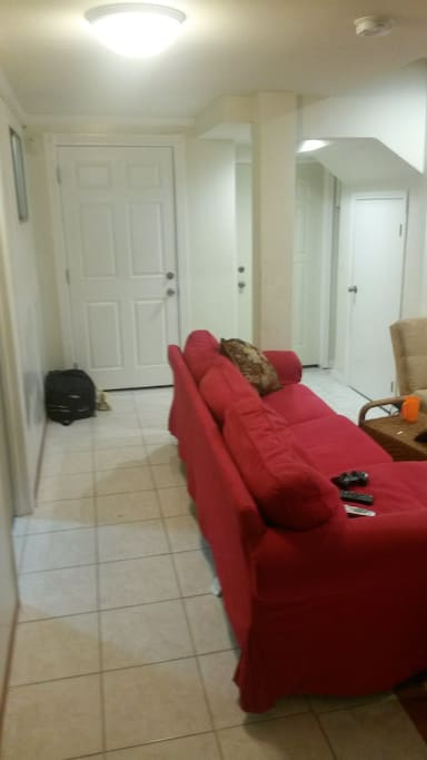 Corridoor and couch from living area