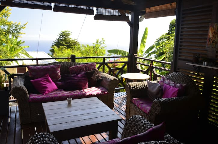 Maison confortable avec vue océan - Les Avirons - Ház