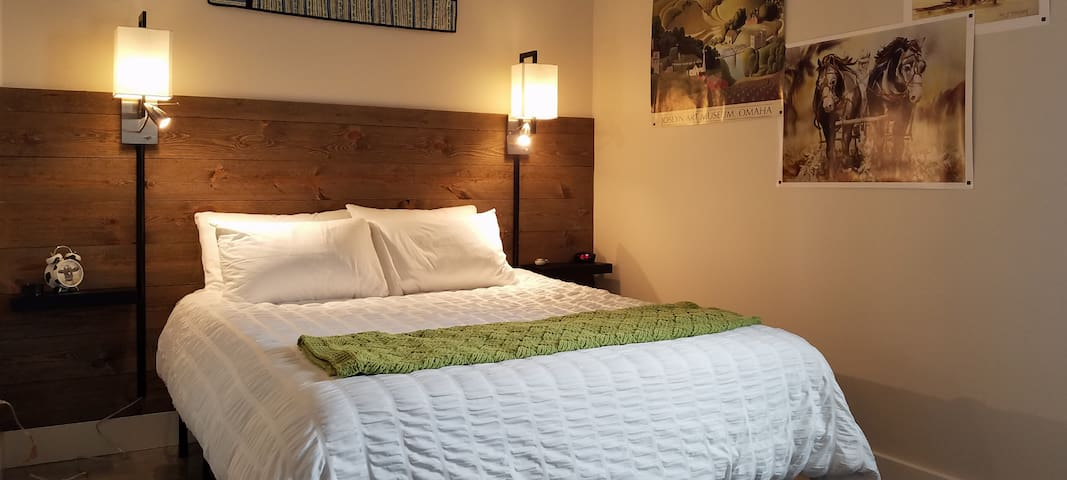 Horizon Room includes a Queen Sleep Number Bed with attached private bathroom