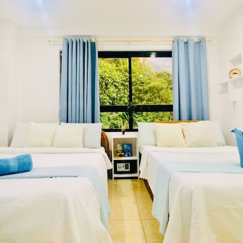Comfy room with picturesque view