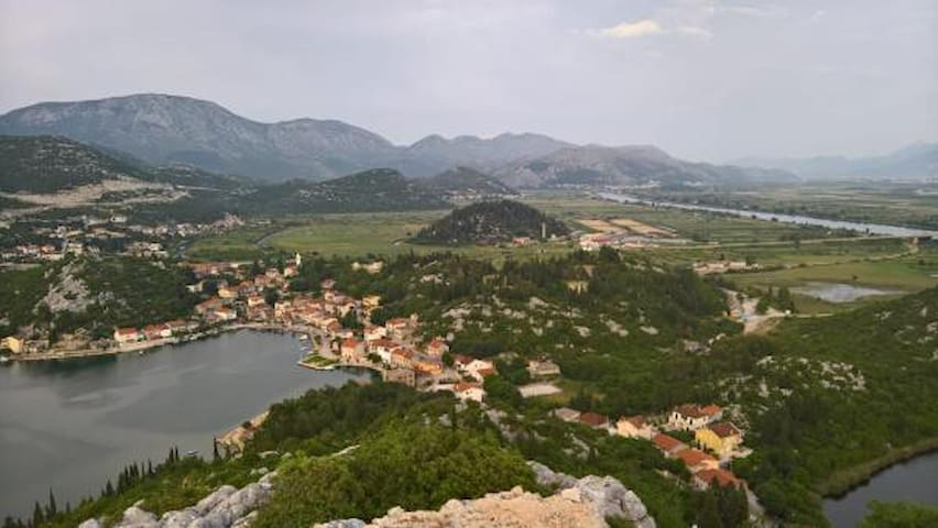 View from the top of hill Trovro. From here you can see the whole village and the Neretva delta.