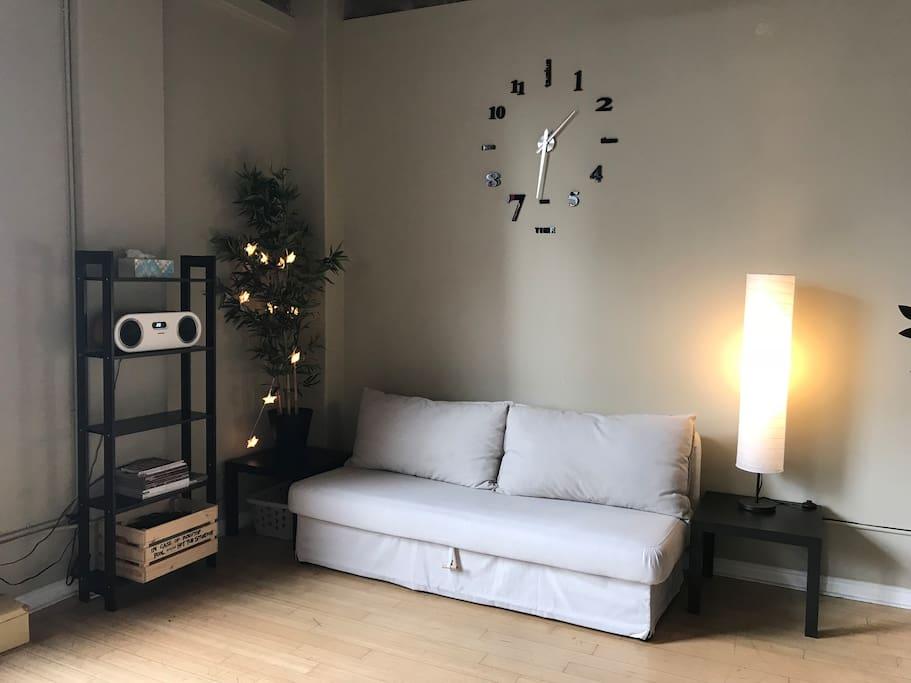 Comfy sofa converts into a ...