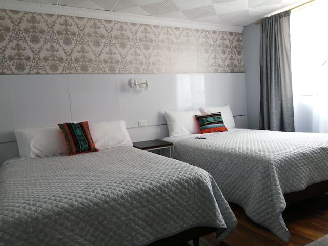 Dormitorio 1 con dos camas dobles