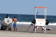 Lifeguard stand at 34th St. beach -1 and 1/2 blocks from house