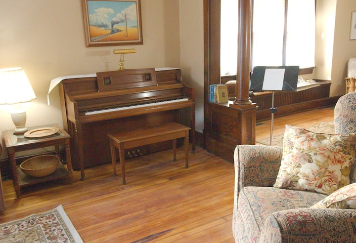 A Piano for you to Play in This 100 Year Old Flat!