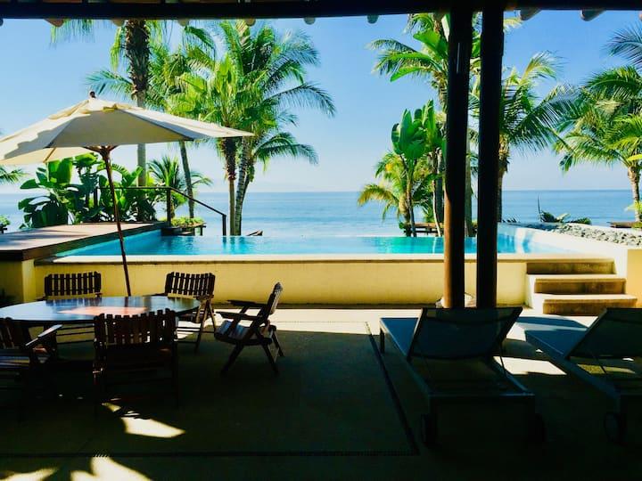 Renovated beachfront unit, private pool,