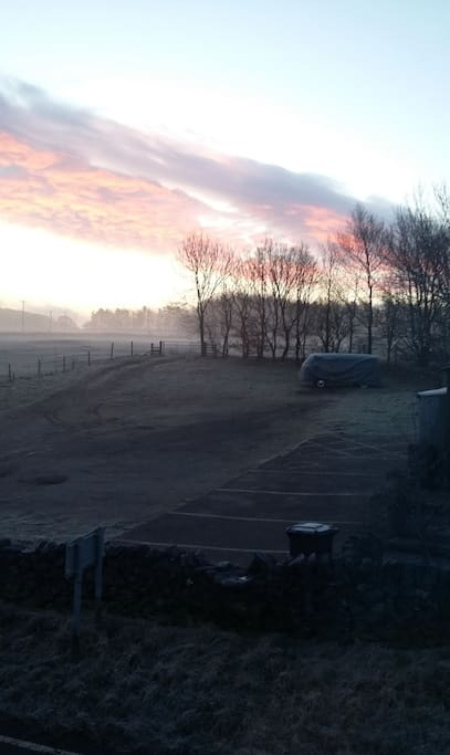 From upstairs, on a frosty morning.