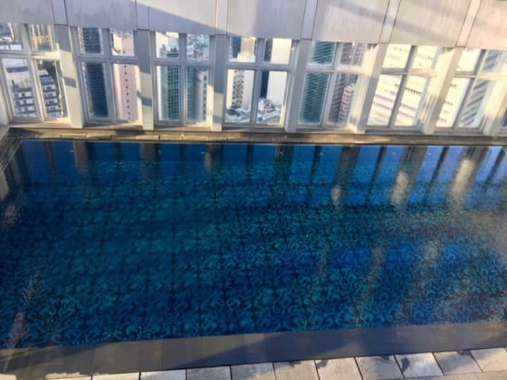 Lux Studio apt with rooftop, pool&gym