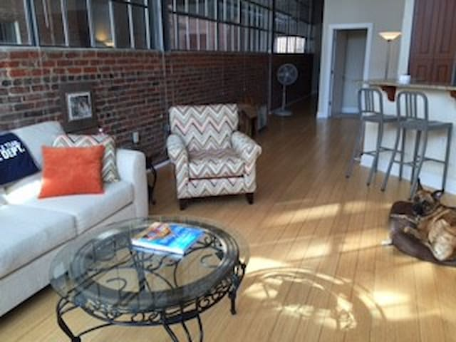 Bright, Airy Warehouse Loft in Downtown Durham - Durham - Daire