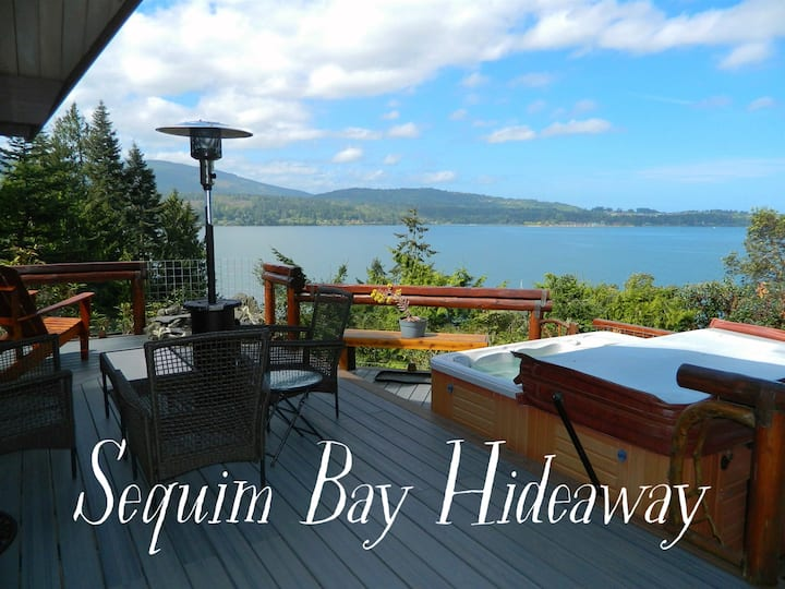 Sequim Bay Hideaway with Hot Tub and Views of East Sequim Bay