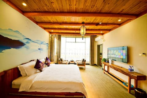 Qing Wu inn | light and luxurious lovers' roomI