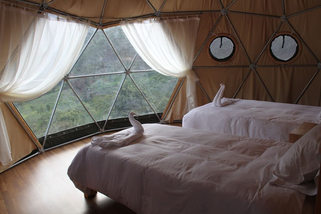 Double dome with private bathroom