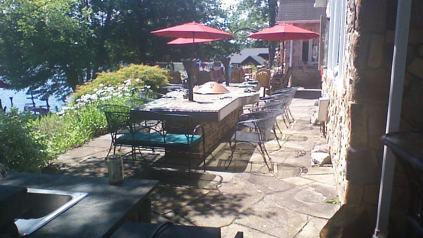 Outside stone table for 12.