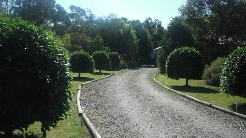 Driveway up to your private cottage