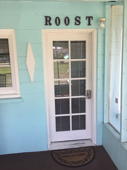 roost entrance off porch