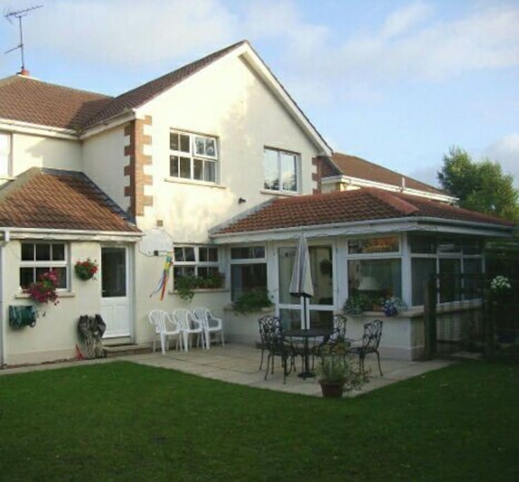 Large sunroom and private, South facing rear garden.