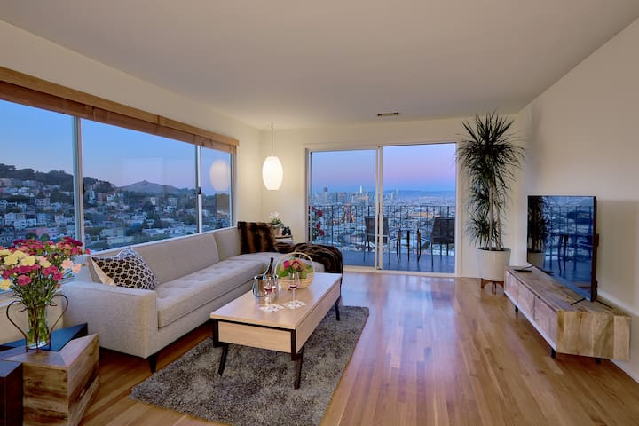 New 2 bdrm, Incredible Views! free parking, QUIET