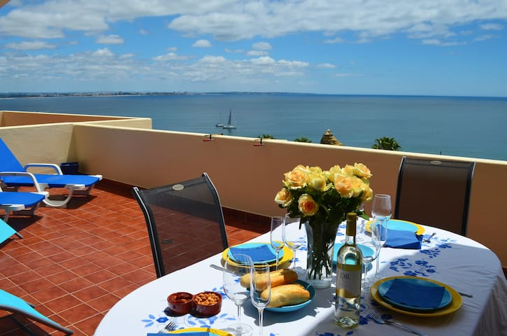 Large terrace with a beautiful sea view (WIFI/AC)